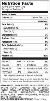 Designer Whey Protein 2Go Nutrition