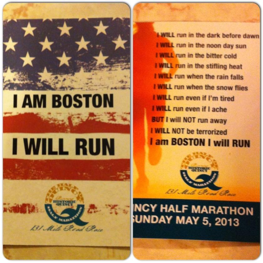 I AM Boston I WILL Run