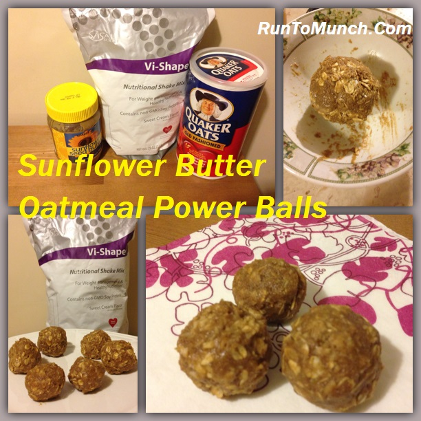 Sunflower Butter Oatmeal Power Balls
