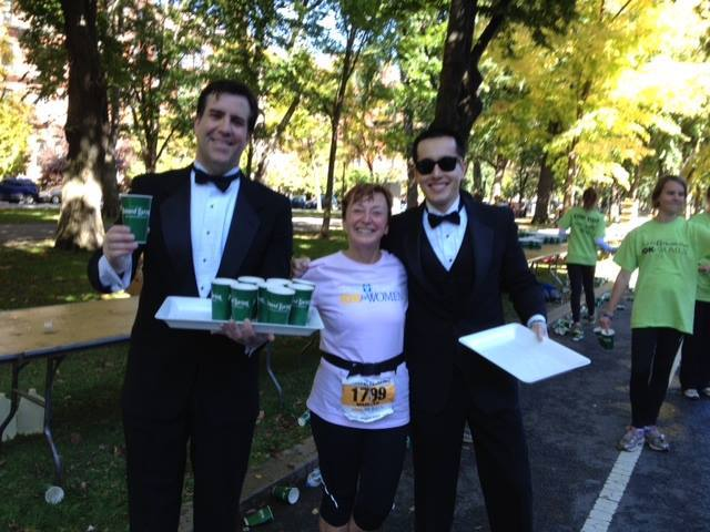 Tufts 10K Tux Water Stop