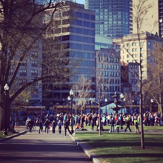 Boston Marathon Bus loading