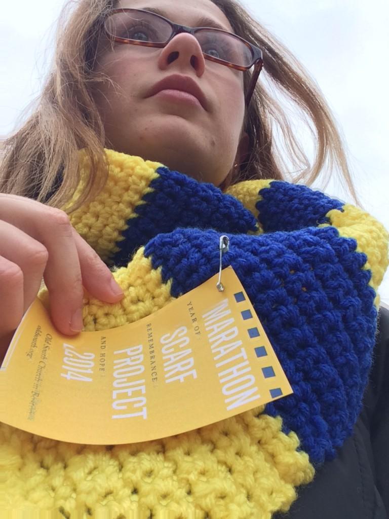 Liana with scarf