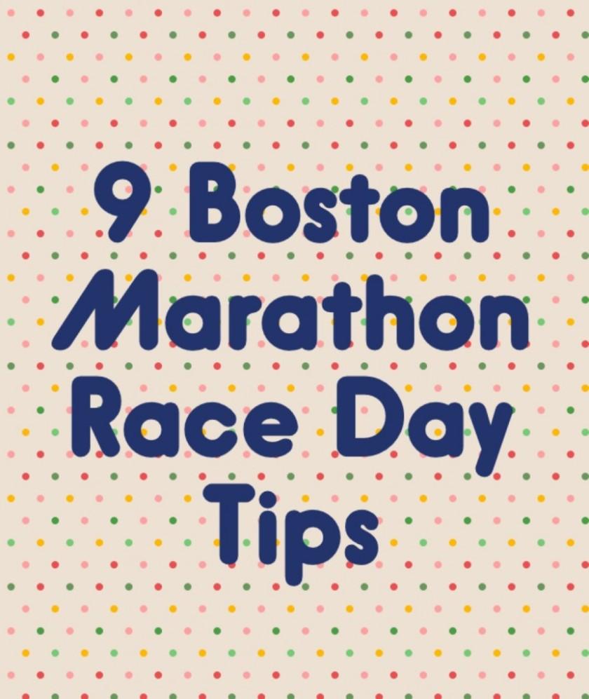 9 Boston Marathon Race Day Tips