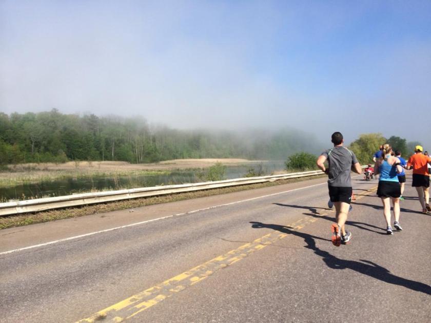 vermont marathon course fog